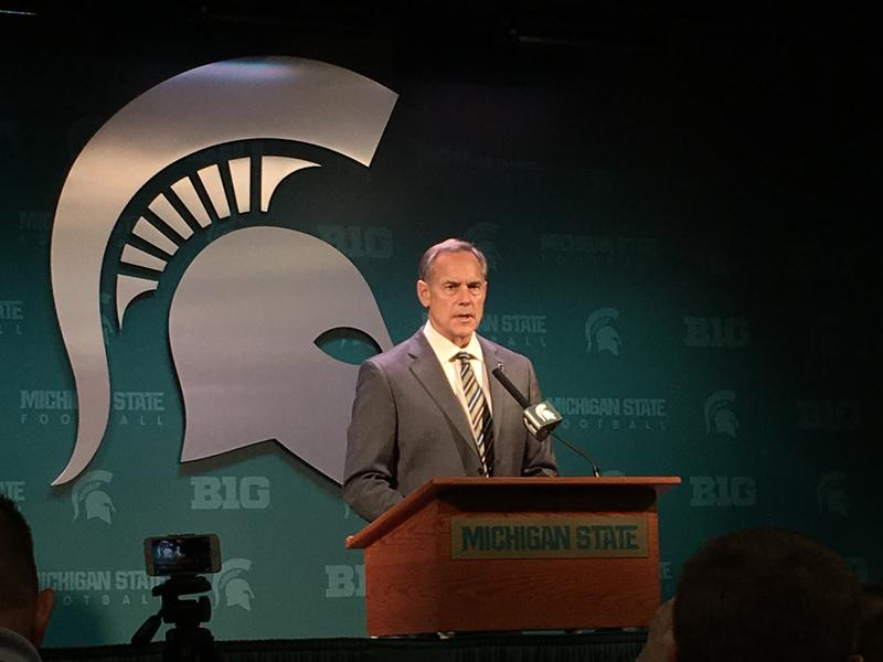 Mark Dantonio at a podium