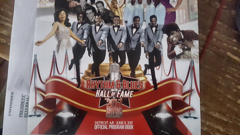 A program booklet from the 2017 R&B Hall of Fame induction ceremony