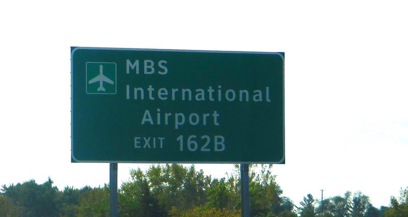 Bishop International Airport sign