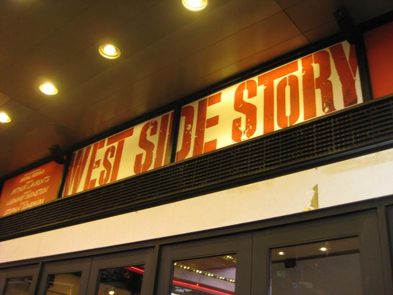 marqee board of west side story