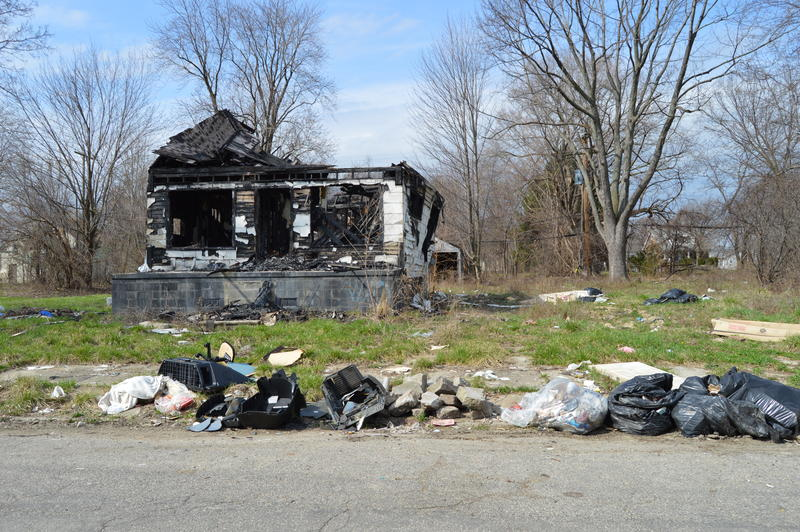 Illegal dumping and abandoned houses cause problems for many neighborhoods in Detroit.