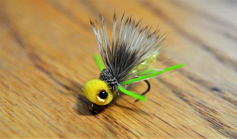 A fishing fly built with a foam head