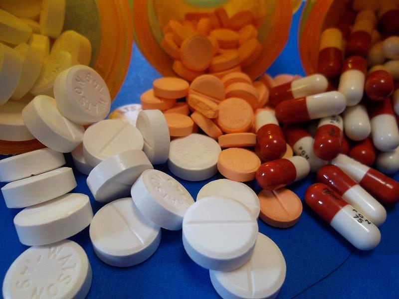bottles of pills