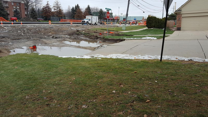 The pre-construction sinkhole in Fraser.