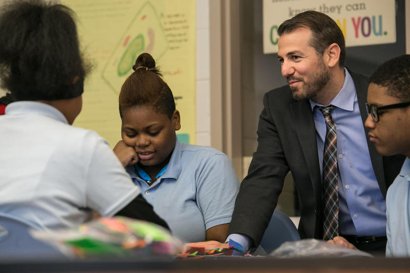 Nir Saar is the principal of the Mumford Academy in Northwest Detroit.