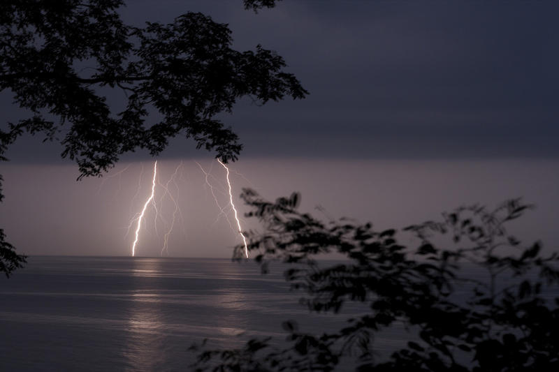 Thunderstorm over Lake Michigan.