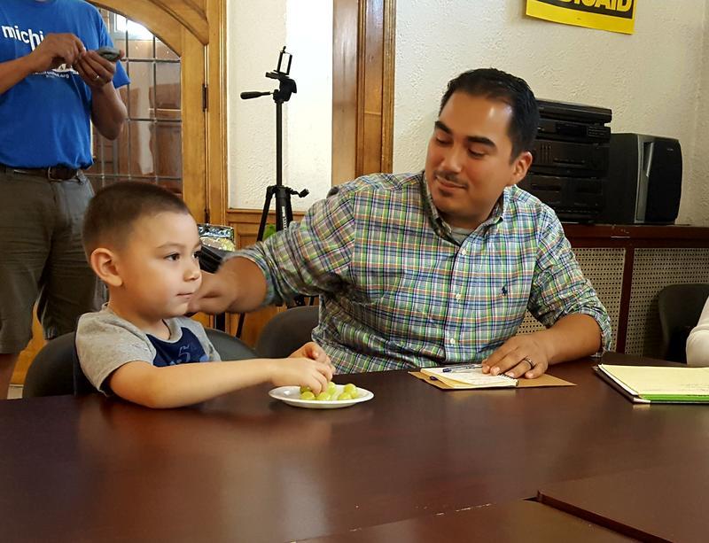 David Sanchez and his son Benicio, who has Autism Spectrum Disoder.