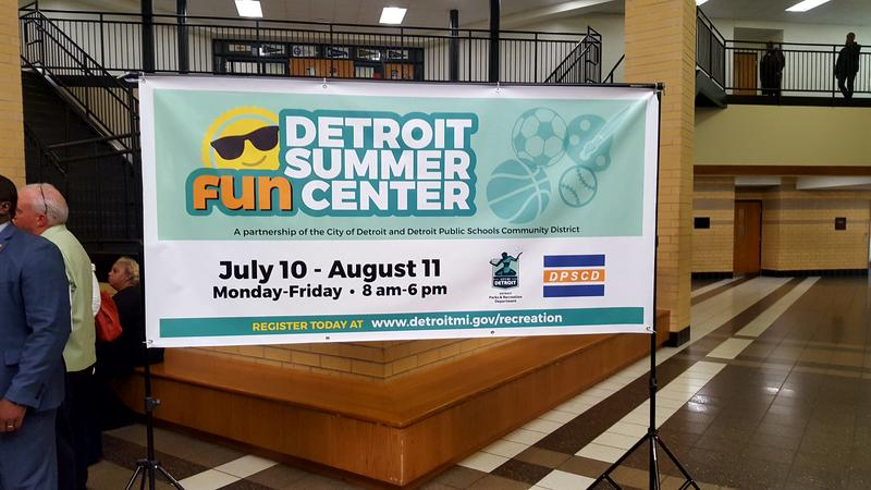Poster for the Detroit Summer Fun Centers.