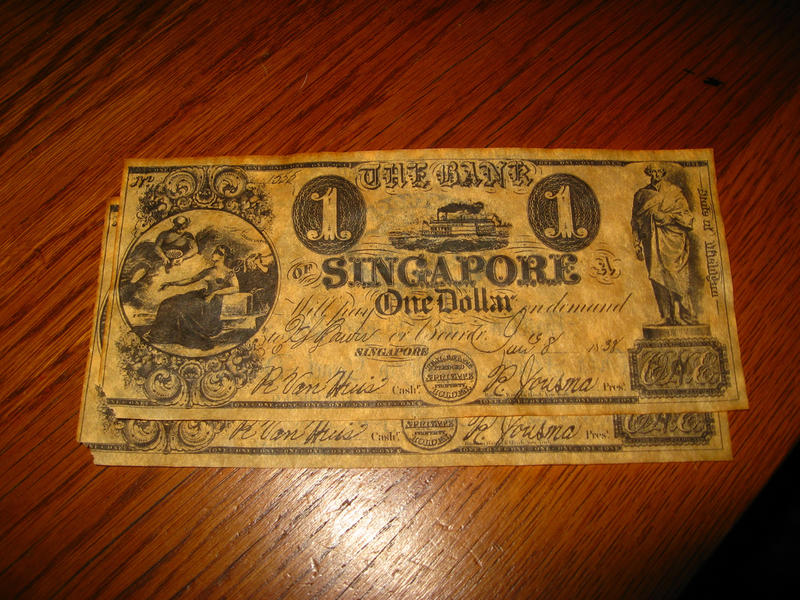 two old one dollar bills