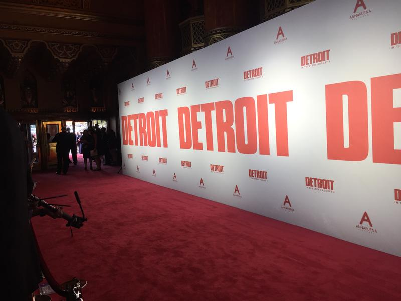 "The red carpet at the ""Detroit"" premiere on Tuesday night."