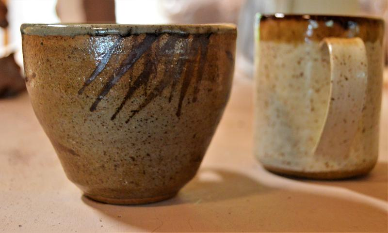 Bowl and mug made by Kate Lewis Ceramics.
