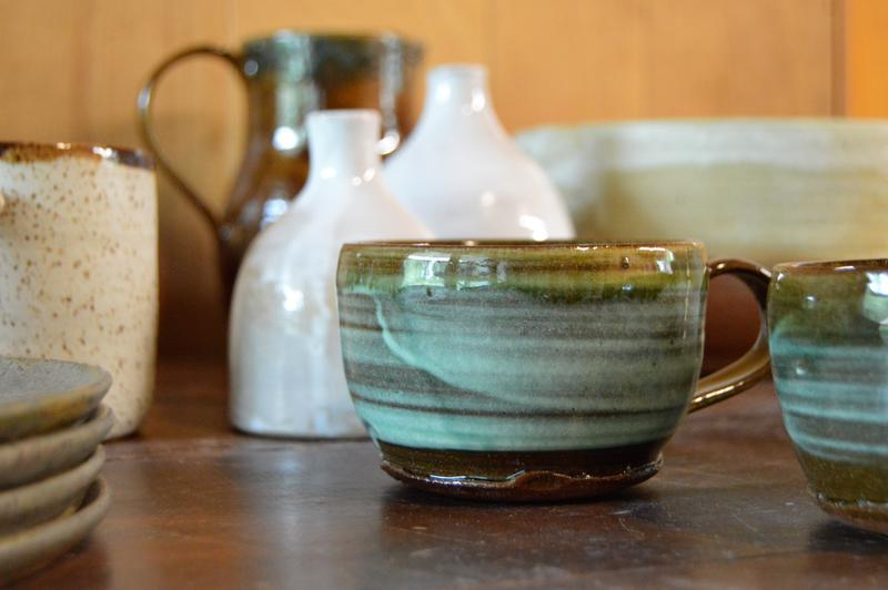 Items on display at Kate Lewis Ceramics in Grand Rapids.