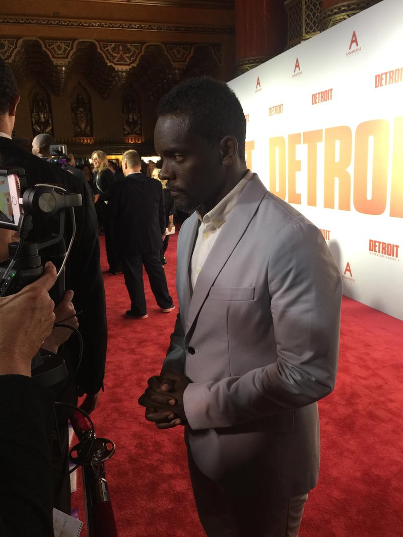 Actor Chris Chalk plays Detroit police officer Frank.