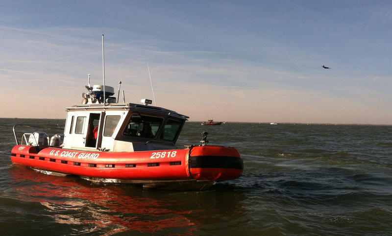 Coast Guard boat in Lake Erie