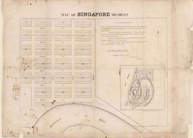 Plat of the village of Singapore, 1838