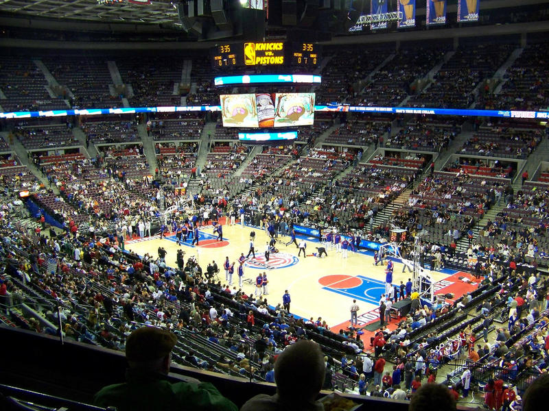 The Detroit Pistons at the Palace of Auburn Hills
