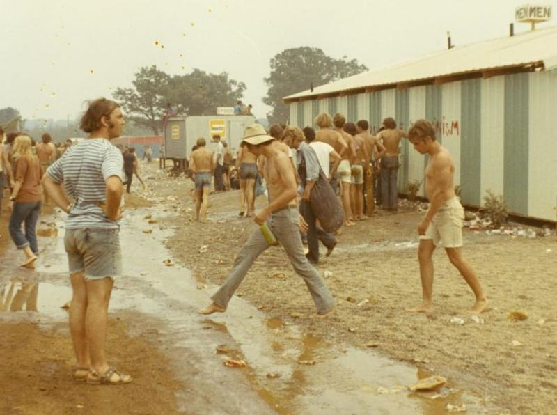 This photo, taken by a men's rest room facility at the Goose Lake festival, shows the unsanitary conditions.