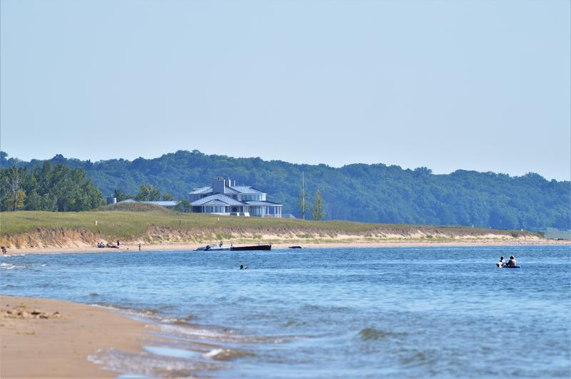 Taken from the neighboring Saugatuck Dunes State Park. The house in the distance is on the Padnos property.