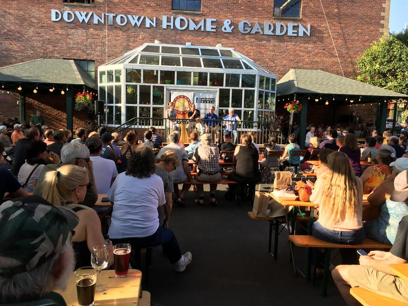 Tuesday night's Issues & Ale event took place at Bill's Beer Garden in Ann Arbor.