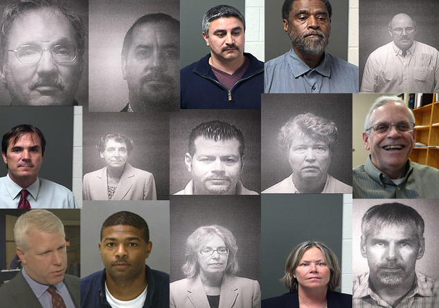 The 15 people charged in the Flint water crisis so far.