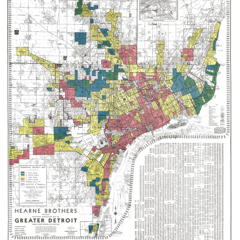"In the 1930s, property assessors graded American cities on a four-point scale, with the worst neighborhoods coded red, giving birth to the term ""redlining."""