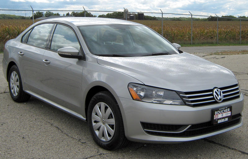 Over 30 recalled vehicles, like this 2012 Volkswagen Passat, were stolen from the parking lot.