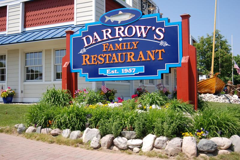 The sign outside Darrow's Family Restaurant in Mackinaw City. The restaurant has relied on the same crew of Jamaican workers on H-2B visas for years.
