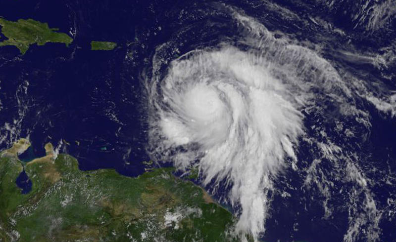 Hurricane Maria, photographed on Sept. 18