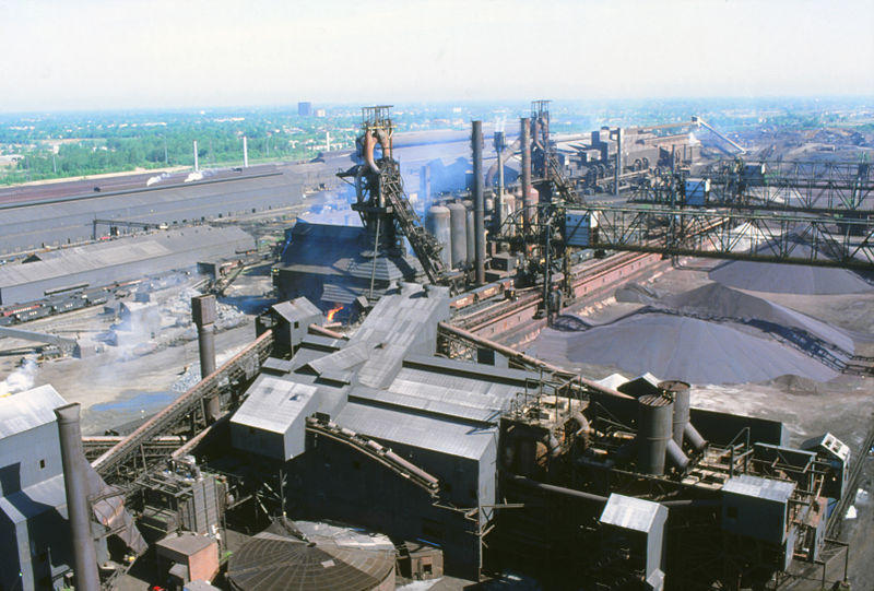 The former McLouth Steel plant in Trenton in the early 1990s.