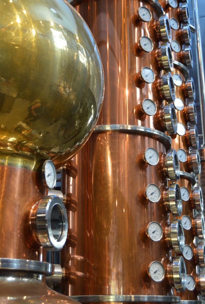 The stills at Long Road Distillers.