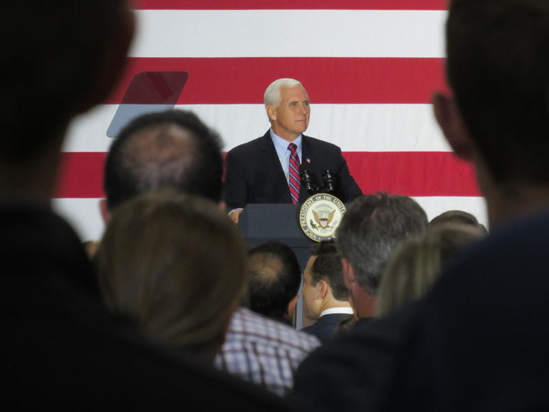 Vice President Mike Pence speaking today at American Axle & Manufacturing in Auburn Hills.