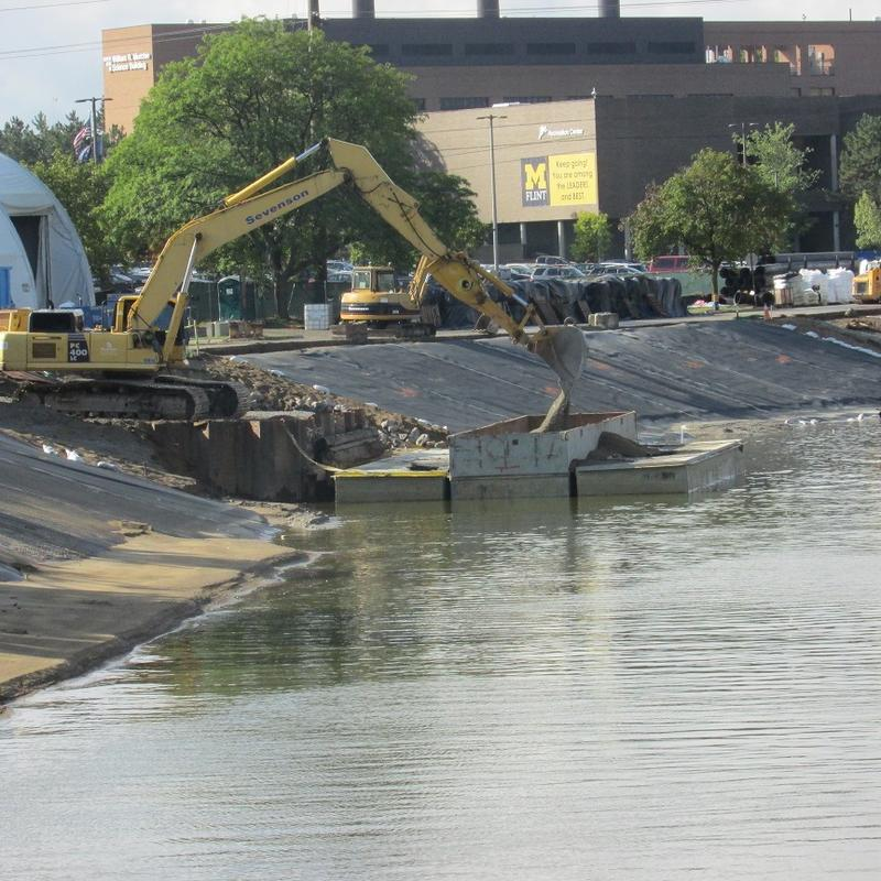 Work along a 1/3 of a mile stretch of the Flint River has been going on for months