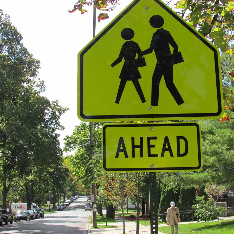 school zone ahead sign