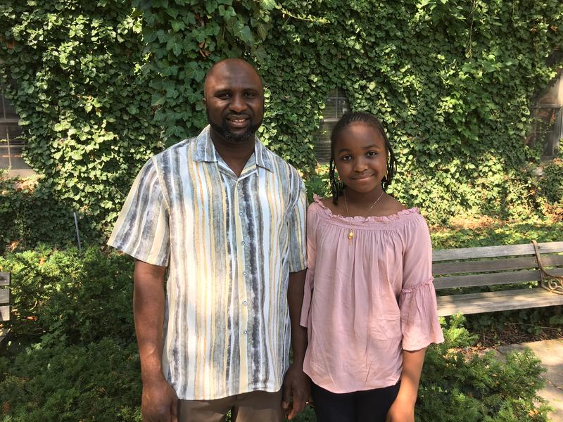 Author Oummu Kabba and her father Brima Kabba