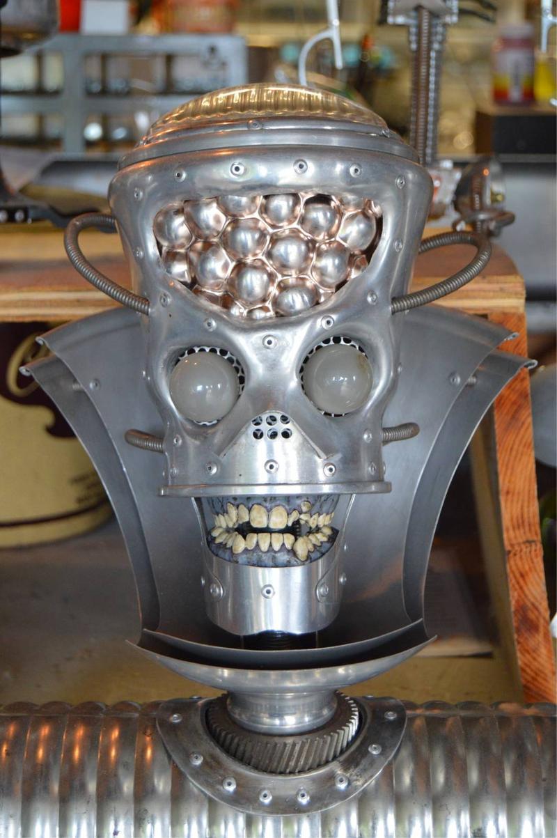 creepy looking alien robot head