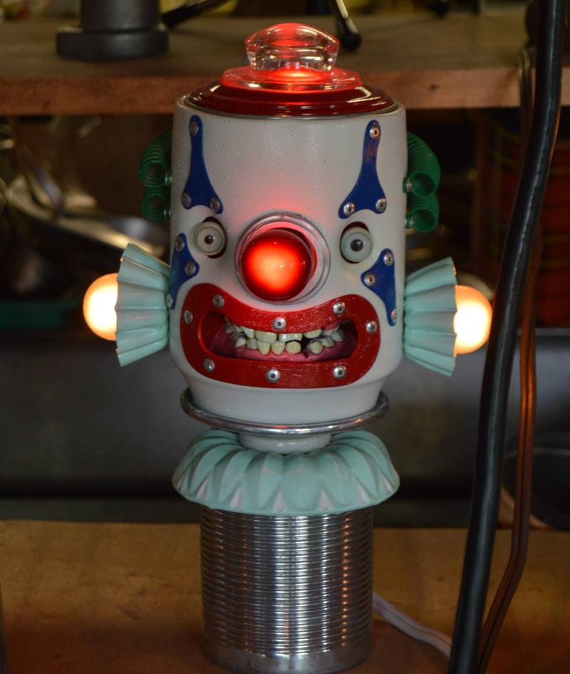 clown robot lamp