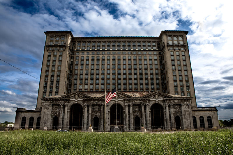 Michigan Central Station in 2017. Detroit's train depot from 1913 to 1988, the structure has since fallen into ruin.