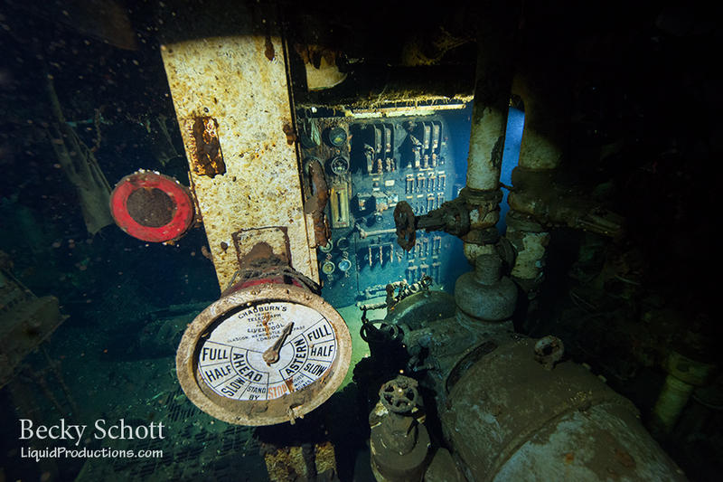 interior of sunken ship