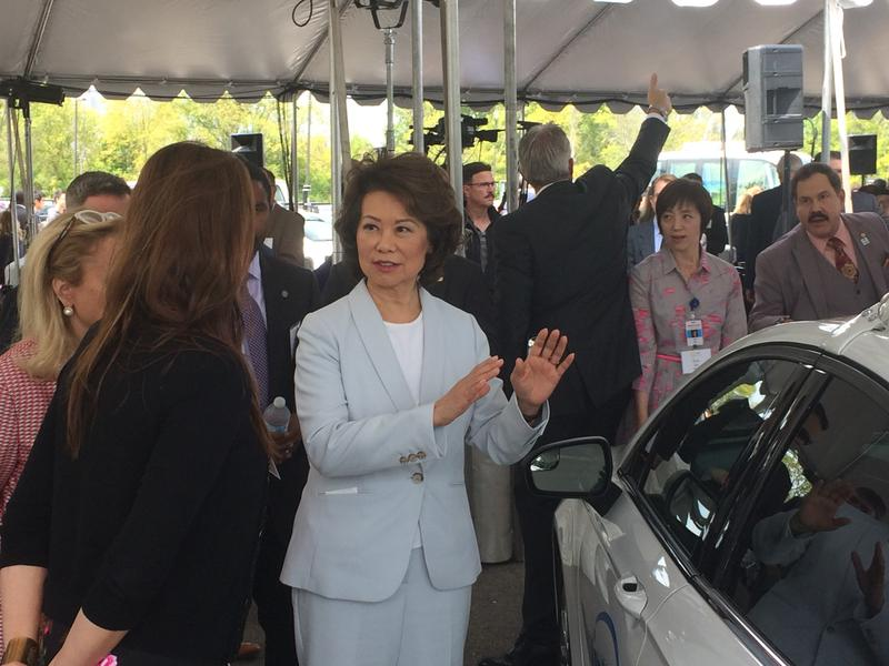 U.S. Transportation Secretary Elaine Chao at M-City in Ann Arbor
