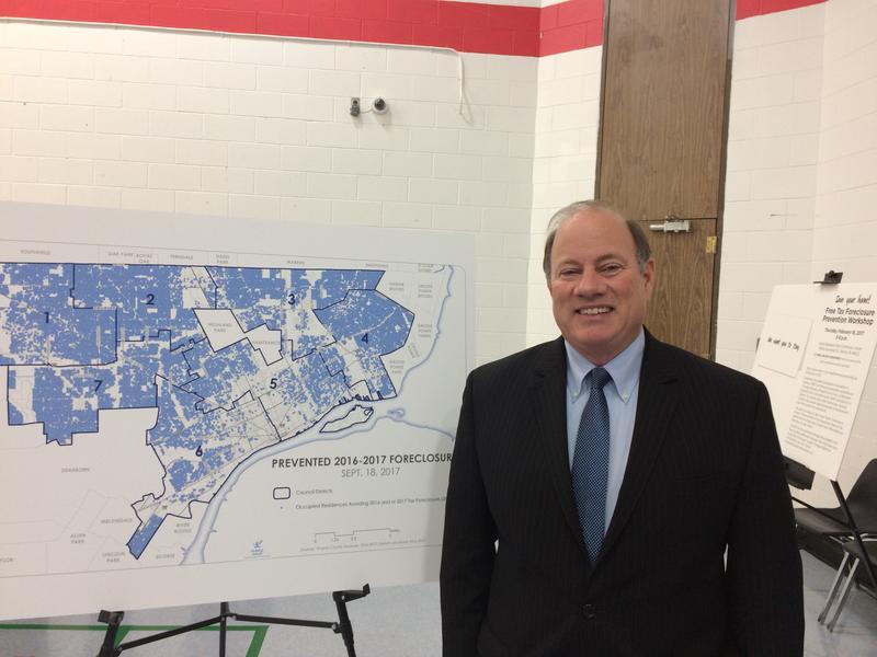 Detroit Mayor Mike Duggan at foreclosure announcement