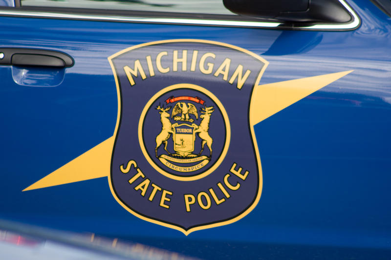Michigan State Police patrol vehicle shield