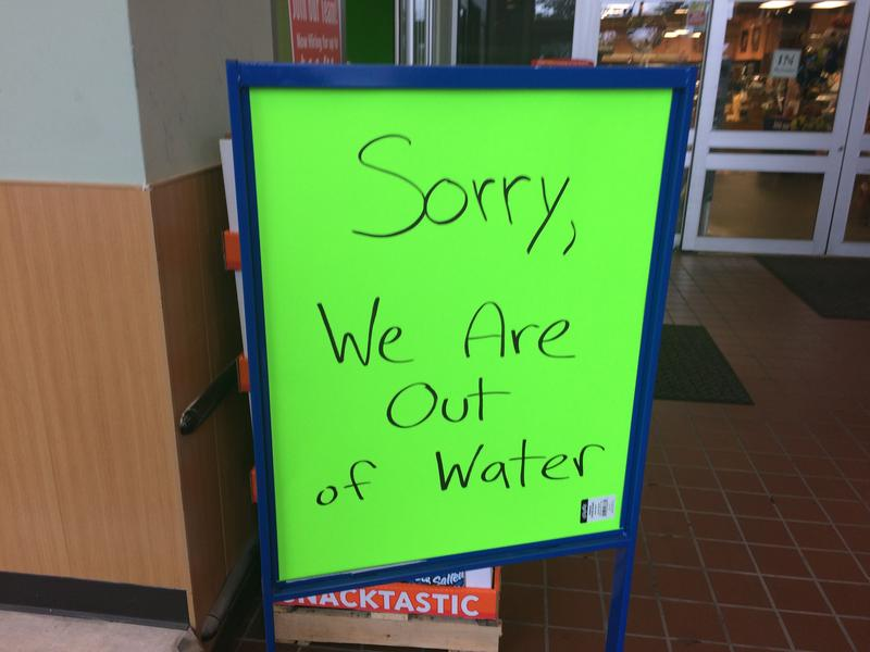 """Out of water"" sign after Oakland County water main break"