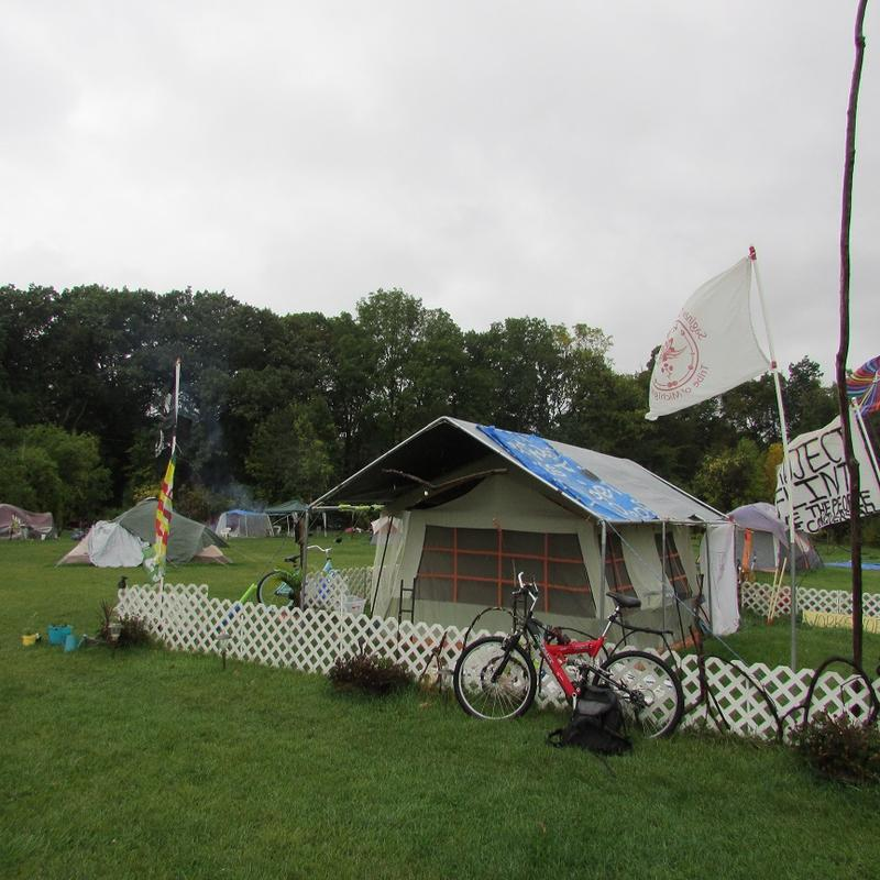 While some activists have settled in at Camp Promise, others have left in recent months