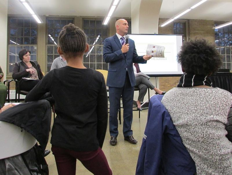 """Problematic"" is how Detroit Schools Superintendent Nikolai Vitti described SB 574 to a public meeting on charter schools in Detroit Wednesday evening."