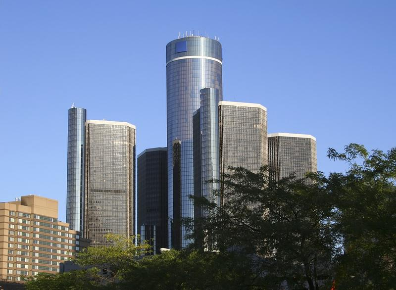 Detroit skyline with GM building