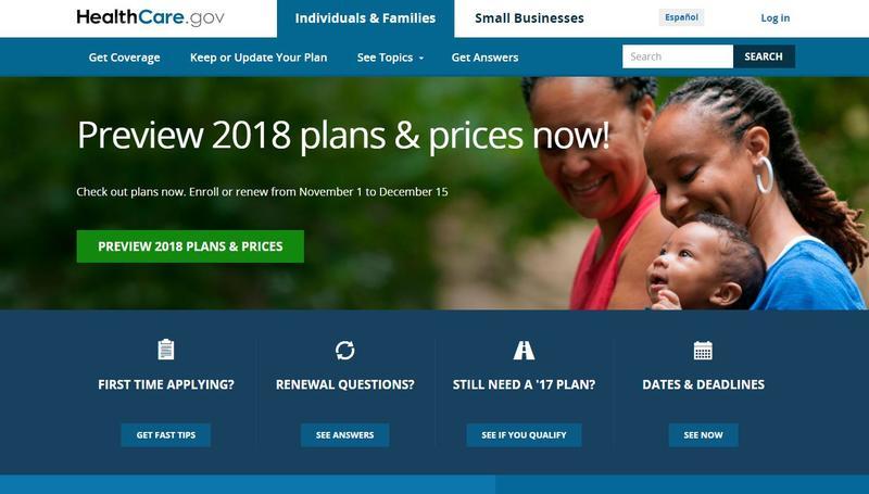 The 2018 ACA enrollment period runs from Nov. 1 to Dec. 15.