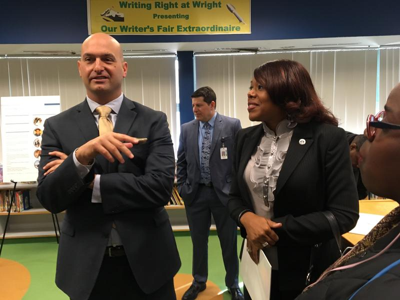Superintendent Nikolai Vitti following his presentation of DPSCD strategic plan.