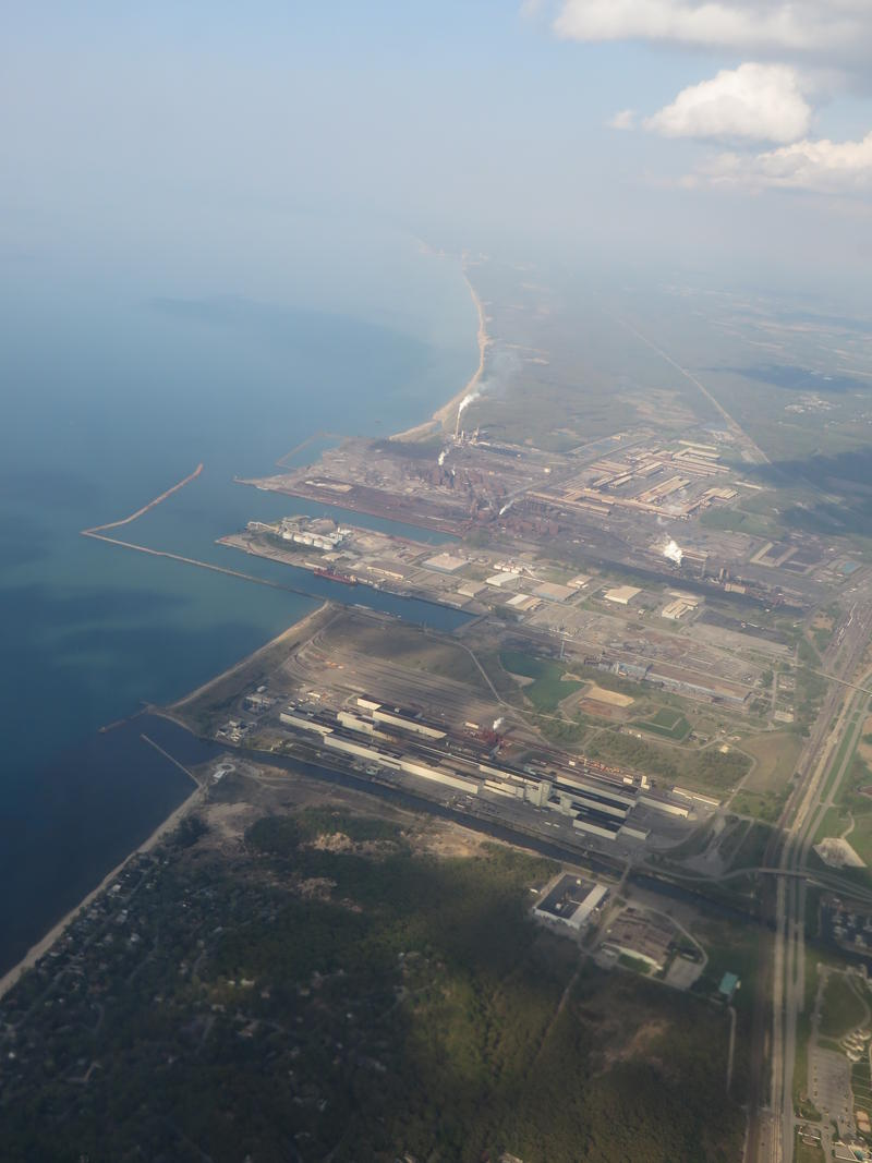 U.S. Steel's Portage Indiana plant is by the shores of Lake Michigan.