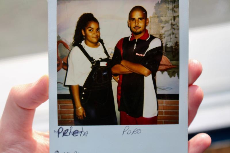 This Polaroid was taken in 1996 when Jose Burgos' sister, Prieta, visited him in prison.
