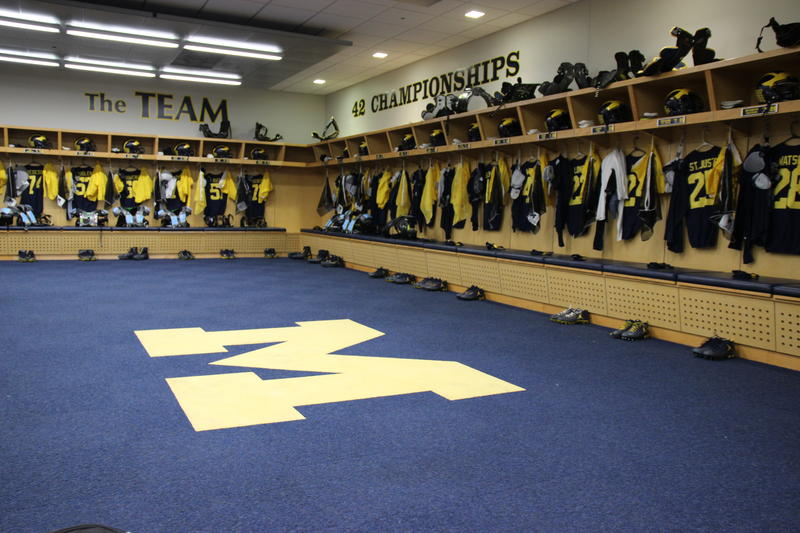 Much of the morning on a game day at Michigan Stadium is quiet. Some kitchen employees arrive at 3:00 a.m. The equipment staff is also in early to prepare players' lockers.